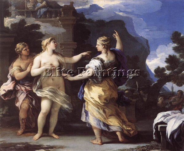 LUCA GIORDANO VENUS PUNISHING PSYCHE WITH A TASK ARTIST PAINTING HANDMADE CANVAS