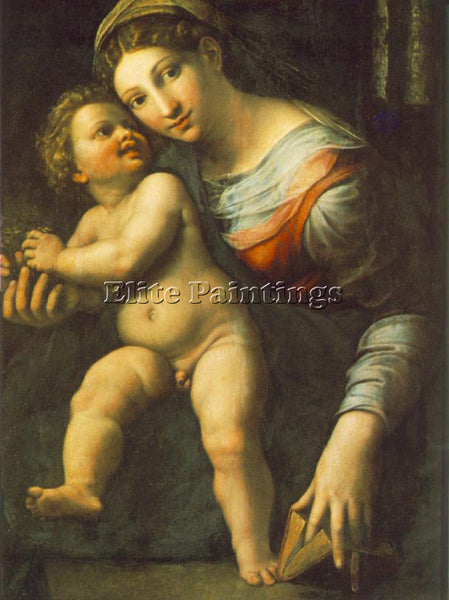 GIULIO ROMANO VIRGIN WITH THE CHILD ARTIST PAINTING REPRODUCTION HANDMADE OIL