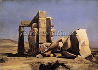CHARLES GLEYRE GABRIEL EGYPTIAN TEMPLE ARTIST PAINTING REPRODUCTION HANDMADE OIL