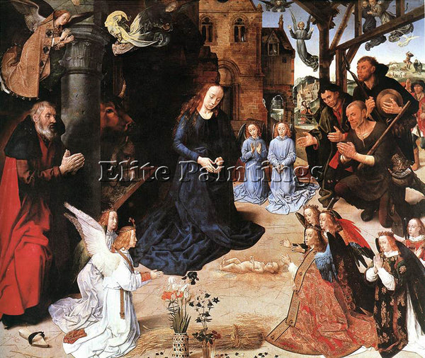 HUGO VAN DER GOES THE ADORATION OF THE SHEPHERDS ARTIST PAINTING HANDMADE CANVAS