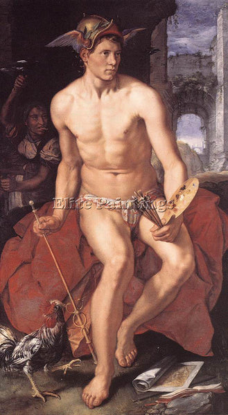 HENDRICK GOLTZIUS MERCURY ARTIST PAINTING REPRODUCTION HANDMADE OIL CANVAS REPRO