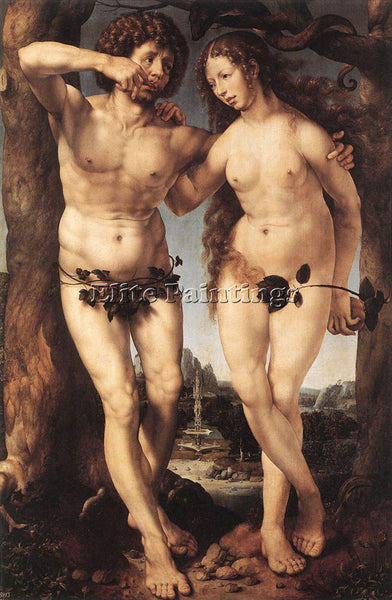 JAN GOSSAERT ADAM AND EVE ARTIST PAINTING REPRODUCTION HANDMADE OIL CANVAS REPRO