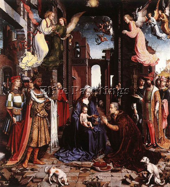 JAN GOSSAERT THE ADORATION OF THE KINGS ARTIST PAINTING REPRODUCTION HANDMADE