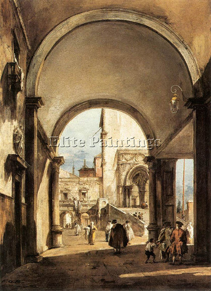 FRANCESCO GUARDI AN ARCHITECTURAL CAPRICE ARTIST PAINTING REPRODUCTION HANDMADE