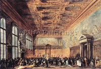 FRANCESCO GUARDI AUDIENCE GRANTED BY THE DOGE ARTIST PAINTING REPRODUCTION OIL