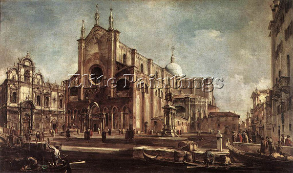 FRANCESCO GUARDI CAMPO SANTI GIOVANNI E PAOLO ARTIST PAINTING REPRODUCTION OIL