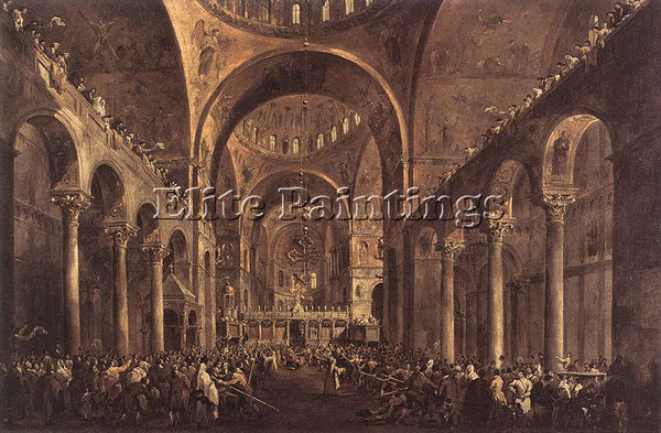 FRANCESCO GUARDI DOGE ALVISE IV MOCENIGO ARTIST PAINTING REPRODUCTION HANDMADE