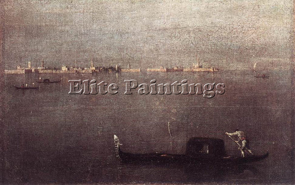FRANCESCO GUARDI GONDOLA ARTIST PAINTING REPRODUCTION HANDMADE CANVAS REPRO WALL