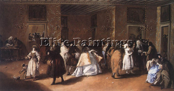 FRANCESCO GUARDI II RIDOTTO THE FOYER ARTIST PAINTING REPRODUCTION HANDMADE OIL