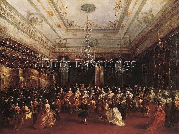 FRANCESCO GUARDI LADIES CONCERT AT THE PHILHARMONIC HALL ARTIST PAINTING CANVAS