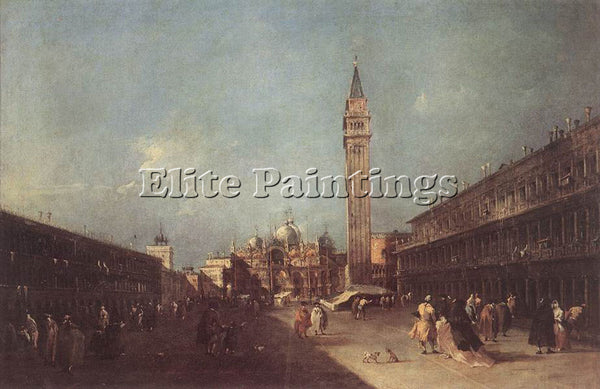 FRANCESCO GUARDI PIAZZA SAN MARCO ARTIST PAINTING REPRODUCTION HANDMADE OIL DECO