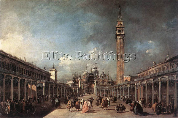 FRANCESCO GUARDI PIAZZA DI SAN MARCO ARTIST PAINTING REPRODUCTION HANDMADE OIL