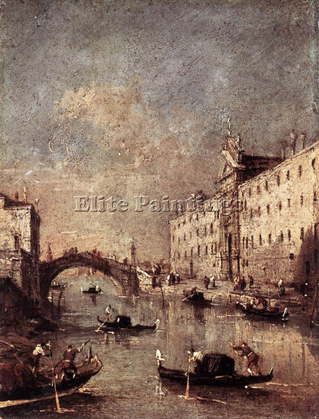 FRANCESCO GUARDI RIO DEI MENDICANTI ARTIST PAINTING REPRODUCTION HANDMADE OIL