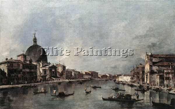 FRANCESCO GUARDI THE GRAND CANAL WITH SAN SIMEONE PICCOLO AND SANTA LUCIA CANVAS