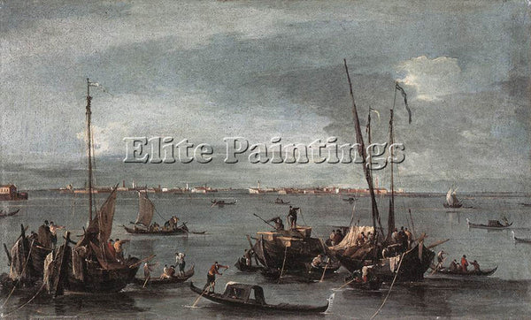 FRANCESCO GUARDI THE LAGOON LOOKING TOWARD MURANO FROM FONDAMENTA NUOVE PAINTING