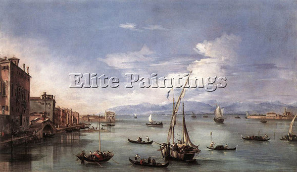 FRANCESCO GUARDI THE LAGOON FROM THE FONDAMENTA NUOVE ARTIST PAINTING HANDMADE