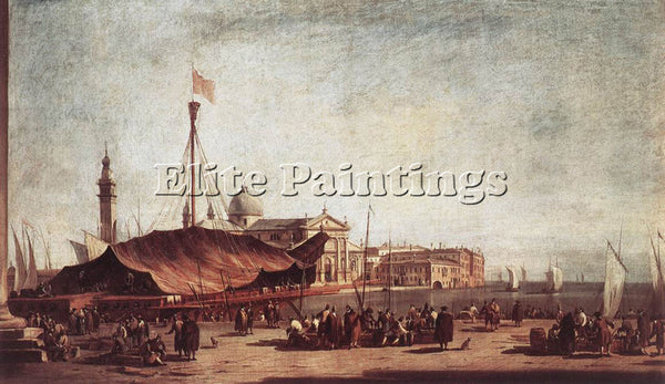 FRANCESCO GUARDI THE PIAZZETTA LOOKING TOWARD SAN GIORGIO MAGGIORE REPRODUCTION
