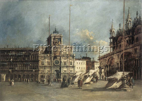 FRANCESCO GUARDI THE TORRE DEL OROLOGIO ARTIST PAINTING REPRODUCTION HANDMADE