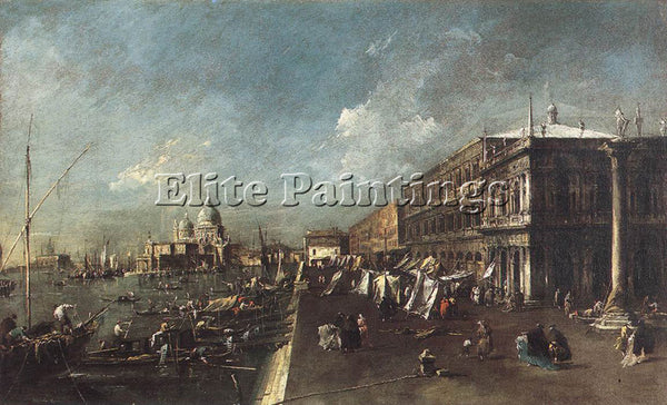 FRANCESCO GUARDI VIEW OF THE MOLO TOWARDS THE SANTA MARIA DELLA SALUTE PAINTING