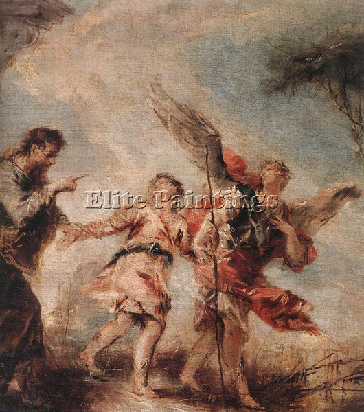 GIOVANNI ANTONIO GUARDI THE DEPARTURE OF TOBIAS ARTIST PAINTING REPRODUCTION OIL