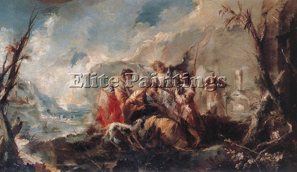 GIOVANNI ANTONIO GUARDI THE HEALING OF TOBIASS FATHER ARTIST PAINTING HANDMADE