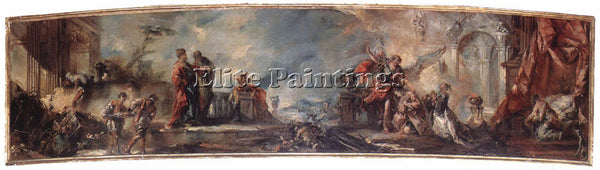 GIOVANNI ANTONIO GUARDI THE MARRIAGE OF TOBIAS ARTIST PAINTING REPRODUCTION OIL