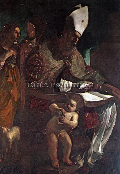 GUERCINO  ST AUGUSTINE ARTIST PAINTING REPRODUCTION HANDMADE CANVAS REPRO WALL