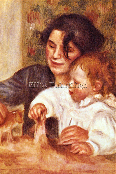 RENOIR GABRIELLE AND JEAN ARTIST PAINTING REPRODUCTION HANDMADE OIL CANVAS REPRO