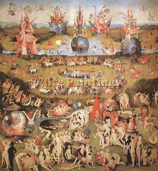 HIERONYMUS BOSCH GARDEN OF EARTHLY DELIGHTS CENTRAL PANEL TRIPTYCH REPRODUCTION