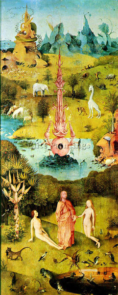 HIERONYMUS BOSCH GARDEN OF EARTHLY DELIGHTS DETAIL2 ARTIST PAINTING REPRODUCTION