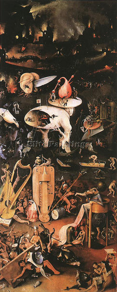 HIERONYMUS BOSCH GARDEN OF EARTHLY DELIGHTS RIGHT WING ARTIST PAINTING HANDMADE