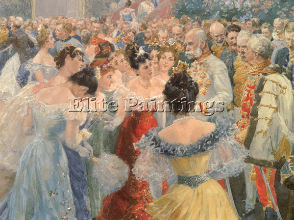 AUSTRIAN GAUSE WILHELM THE STATE BALL ARTIST PAINTING REPRODUCTION HANDMADE OIL