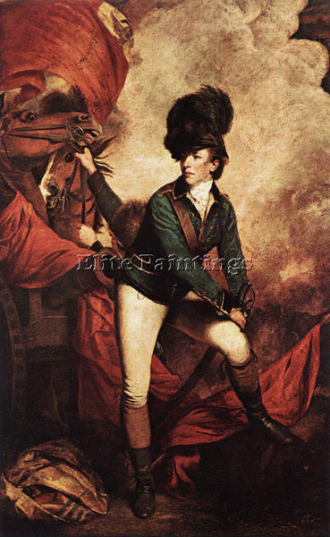 JOSHUA REYNOLDS GENERAL SIR BANASTRE TARLETON ARTIST PAINTING REPRODUCTION OIL