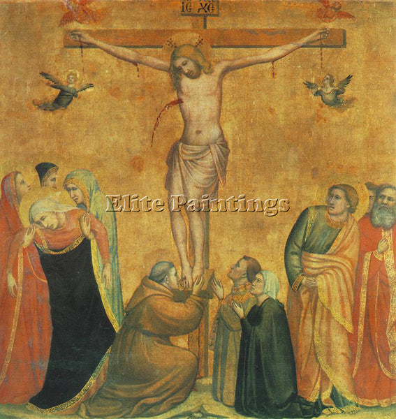 GIOTTO CRUCIFIX MUNICH ARTIST PAINTING REPRODUCTION HANDMADE CANVAS REPRO WALL