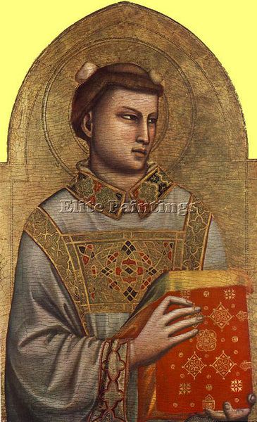 GIOTTO SAINT STEPHEN ARTIST PAINTING REPRODUCTION HANDMADE OIL CANVAS REPRO WALL