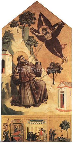 GIOTTO STIGMATIZATION OF ST FRANCIS ARTIST PAINTING REPRODUCTION HANDMADE OIL