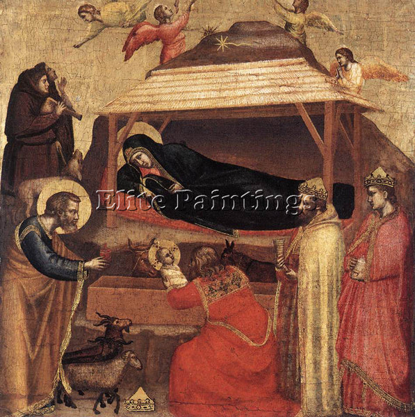 GIOTTO THE EPIPHANY ARTIST PAINTING REPRODUCTION HANDMADE CANVAS REPRO WALL DECO