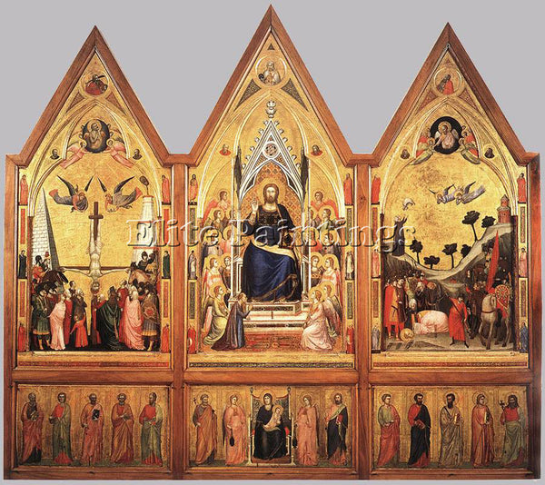 GIOTTO THE STEFANESCHI TRIPTYCH ARTIST PAINTING REPRODUCTION HANDMADE OIL CANVAS