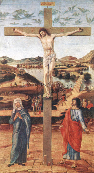 GIOVANNI BELLINI CRUCIFIX ARTIST PAINTING REPRODUCTION HANDMADE OIL CANVAS REPRO