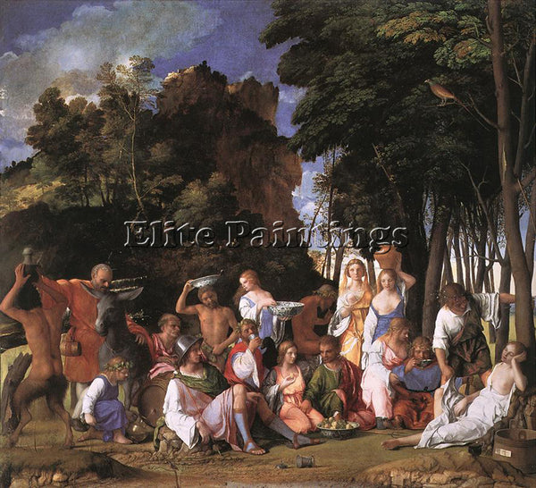 GIOVANNI BELLINI FEAST OF THE GODS ARTIST PAINTING REPRODUCTION HANDMADE OIL ART