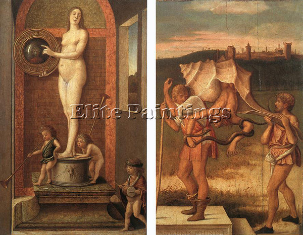 GIOVANNI BELLINI FOUR ALLEGORIES 2 ARTIST PAINTING REPRODUCTION HANDMADE OIL ART