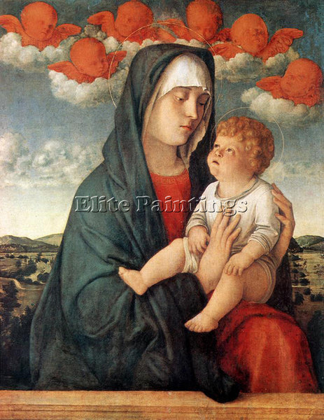 GIOVANNI BELLINI MADONNA OF THE RED ANGELS ARTIST PAINTING REPRODUCTION HANDMADE