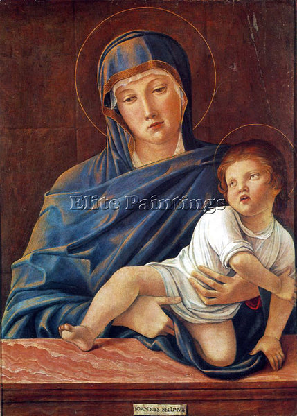 GIOVANNI BELLINI MADONNA WITH THE CHILD ARTIST PAINTING REPRODUCTION HANDMADE