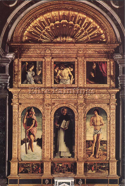 GIOVANNI BELLINI POLYPTICH OF ST VINCENT ARTIST PAINTING REPRODUCTION HANDMADE