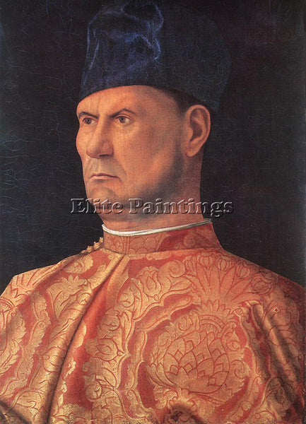 GIOVANNI BELLINI PORTRAIT OF A CONDOTTIERE ARTIST PAINTING REPRODUCTION HANDMADE