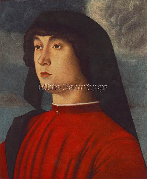 GIOVANNI BELLINI PORTRAIT OF A YOUNG MAN IN RED ARTIST PAINTING REPRODUCTION OIL