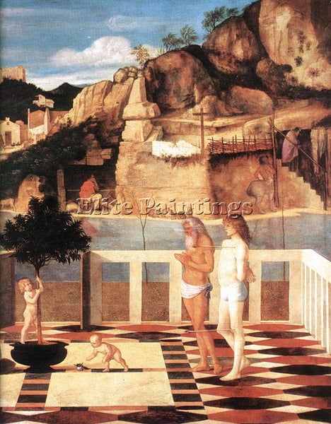 GIOVANNI BELLINI SACRED ALLEGORY ARTIST PAINTING REPRODUCTION HANDMADE OIL REPRO