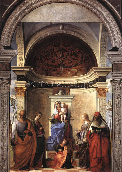 GIOVANNI BELLINI SAN ZACCARIA ALTARPIECE ARTIST PAINTING REPRODUCTION HANDMADE
