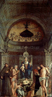 GIOVANNI BELLINI SAN GIOBBE ALTARPIECE ARTIST PAINTING REPRODUCTION HANDMADE OIL