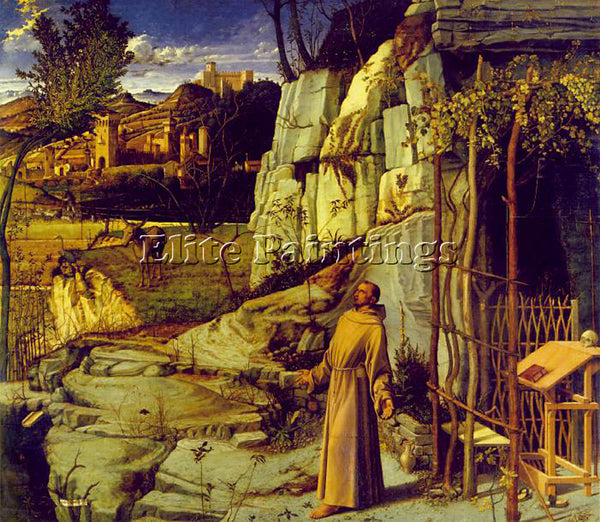 GIOVANNI BELLINI ST FRANCIS IN ECSTASY ARTIST PAINTING REPRODUCTION HANDMADE OIL